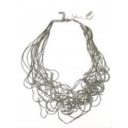 Collana girocollo fili argento