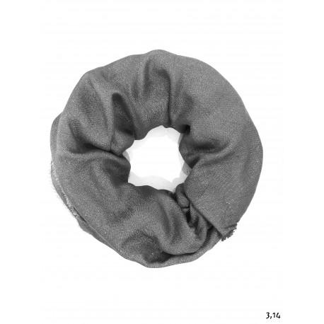 Sciarpa grigio scuro lurex
