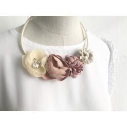 Collana pearl & flower