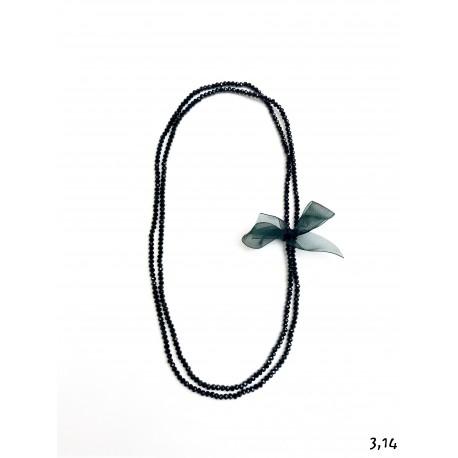 Collana cristalli - nero