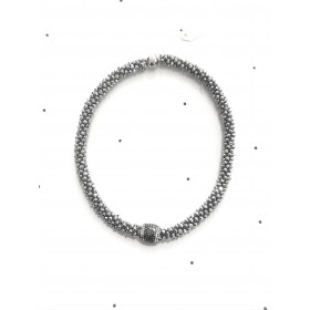 Necklace round - Silver stone