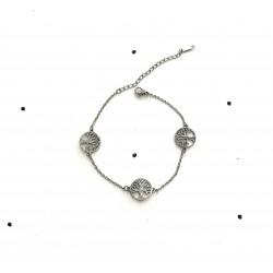 Rigid tree of life bracelet