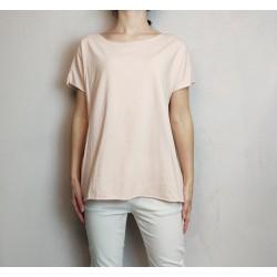 T shirt maxi cotone ROSA