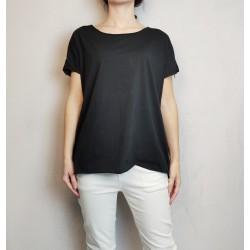 T shirt maxi cotone BLU