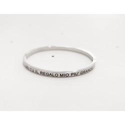 Rigid double strass bracelet